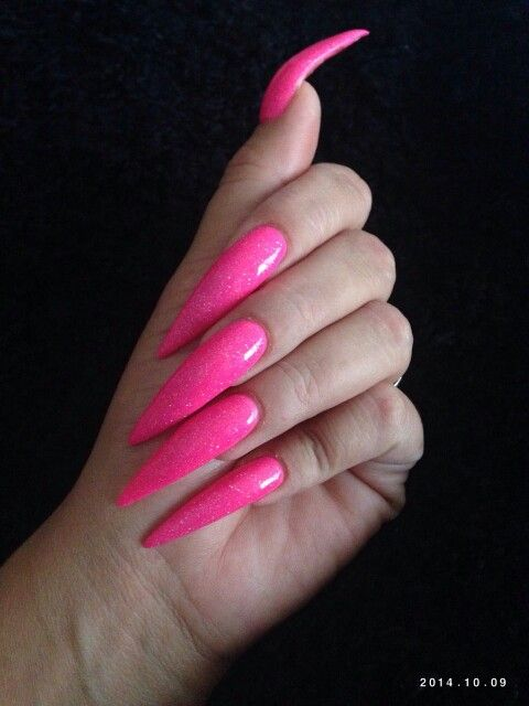 Stiletto With Images Long Acrylic Nails Pointed Nails