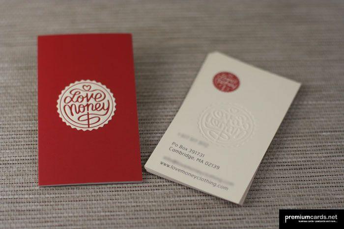 Love Money | Silk Embossed Business Cards