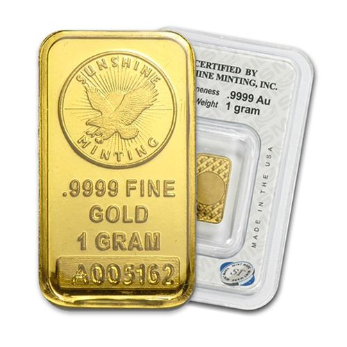 1 Gram Gold Sunshine Mint Bar Gold Bullion Bars Gold Jewelry For Sale Gold Money