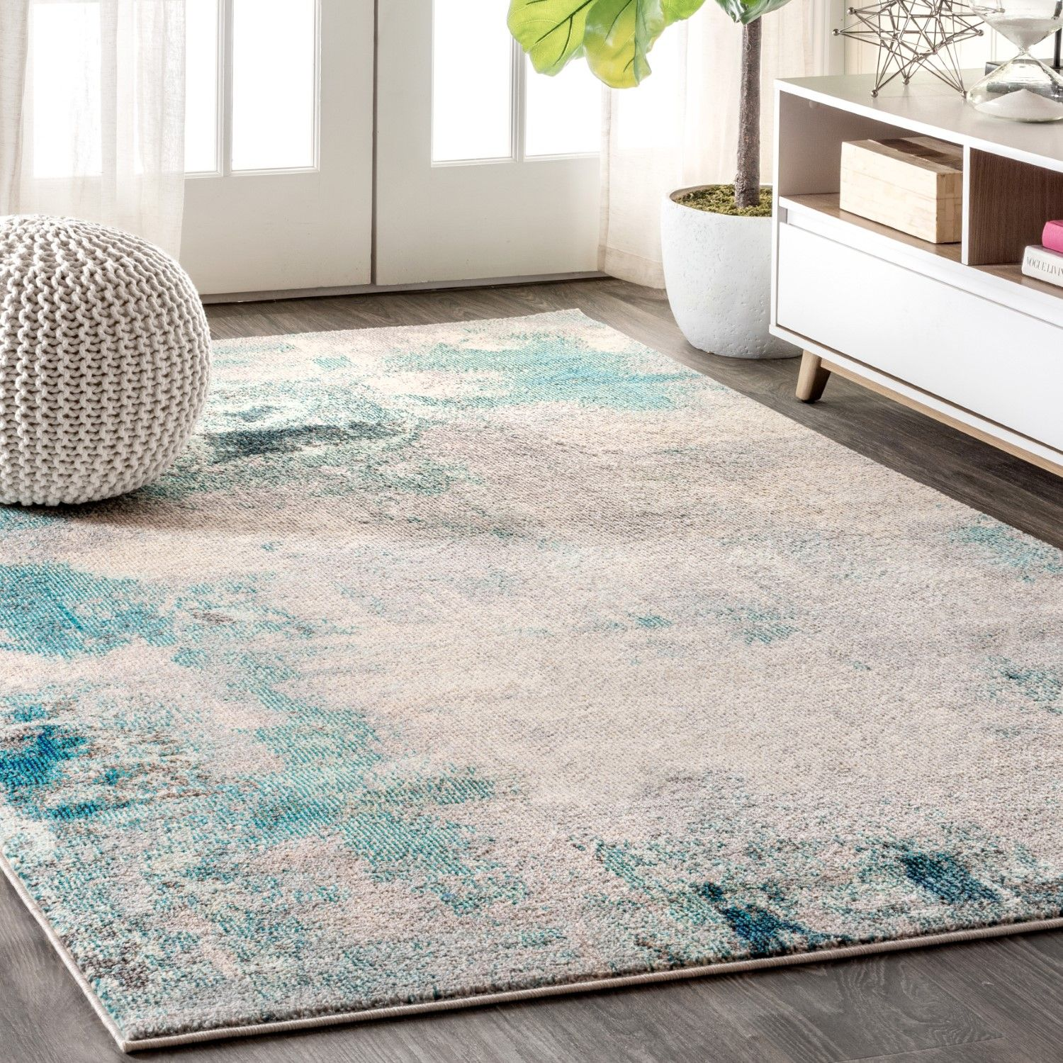 Melbourne Modern Abstract Vintage Rug In 2019 Area Rugs