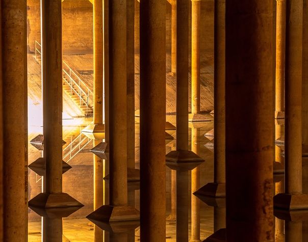Public infrastructure is known for being utilitarian, uninspiring, and downright ugly. But not always. At first glance, this giant water storage system under Houston looks more like the pillared nave of an ancient cathedral. Now the lost space that's larger than a football field is open for visits.