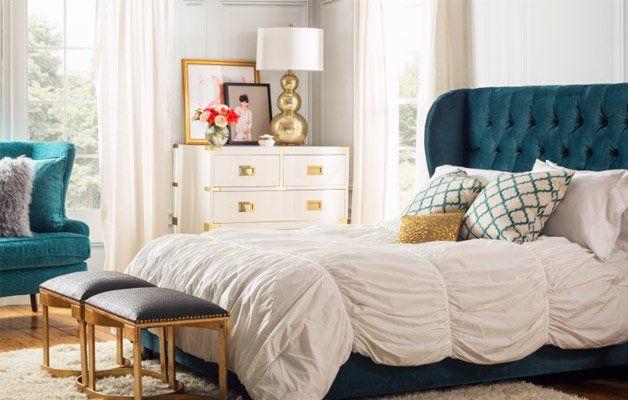// Glam Bedroom Makeover For $400