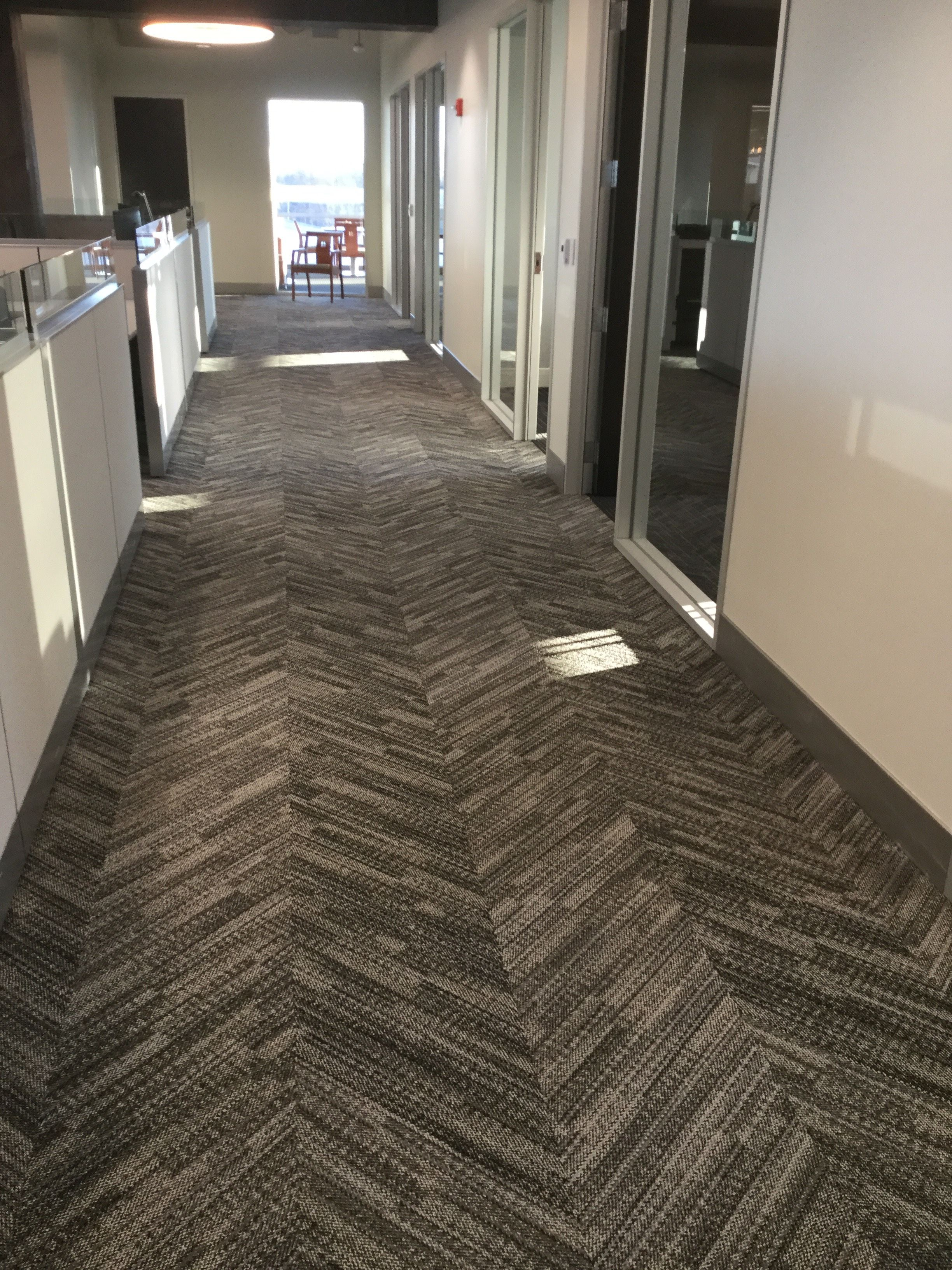 Patcraft S Fabrix Facet In Color 590 As Shown At An Install At Braden Business Systems Headquarters Commercial Carpet Tiles Commercial Carpet Transition Strips