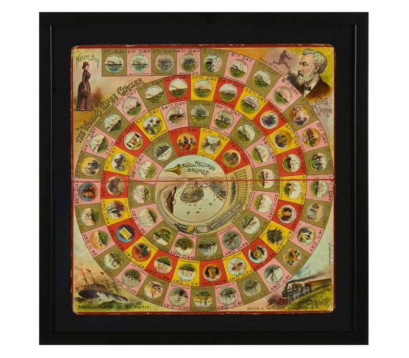 Board Game 1890 1900 With Images Board Games Vintage Games