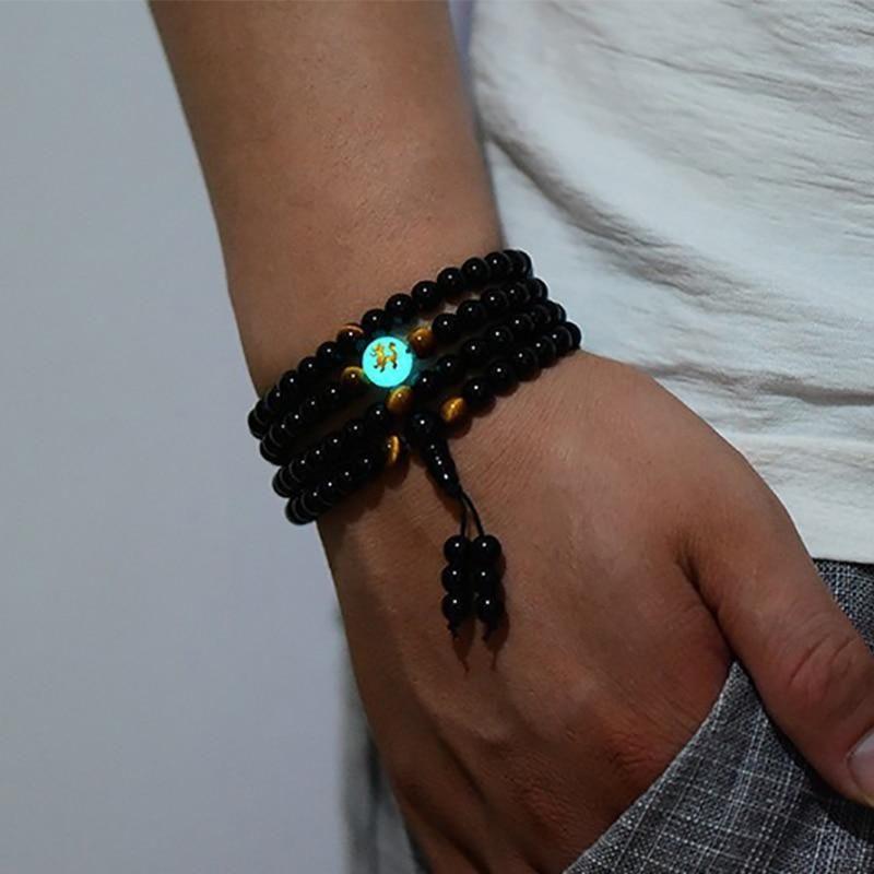 Photo of Dragon Black Buddha Beads Bangles&Bracelets – 8mm