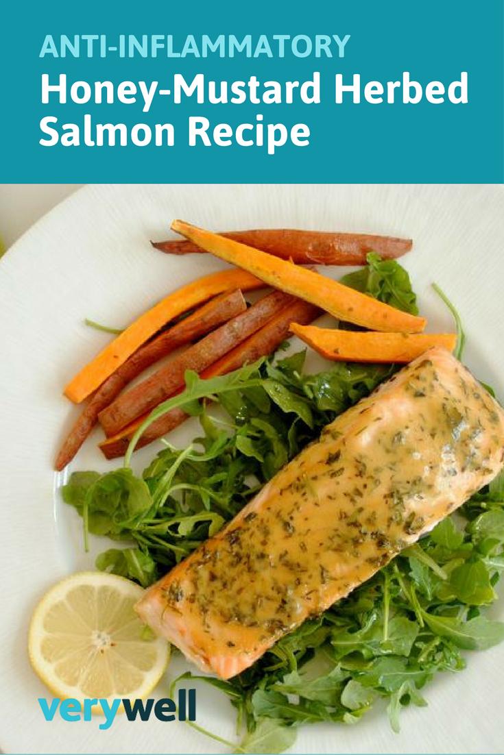 Anti-Inflammatory Honey-Mustard Herbed Salmon Recipe