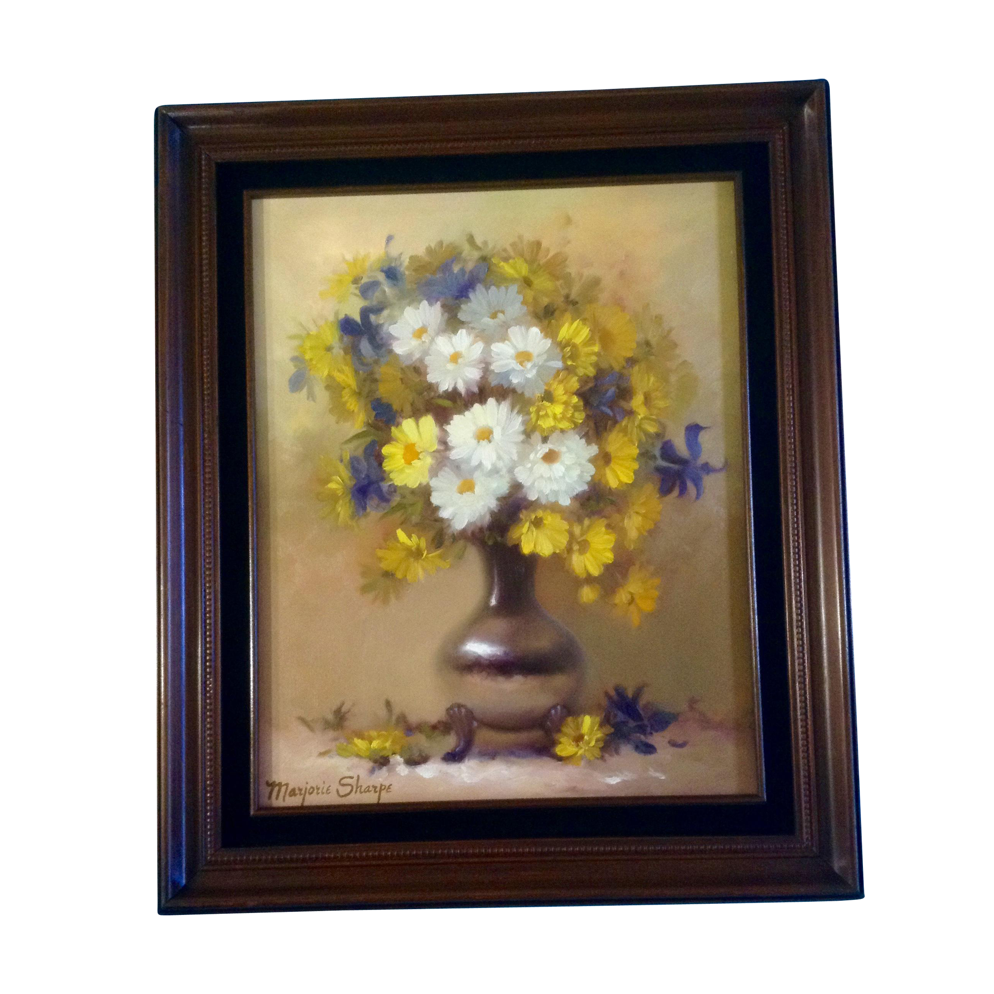 Marjorie sharpe oil painting on canvas listed san francisco marjorie sharpe oil painting on canvas listed san francisco artist yellow and white daisies reviewsmspy
