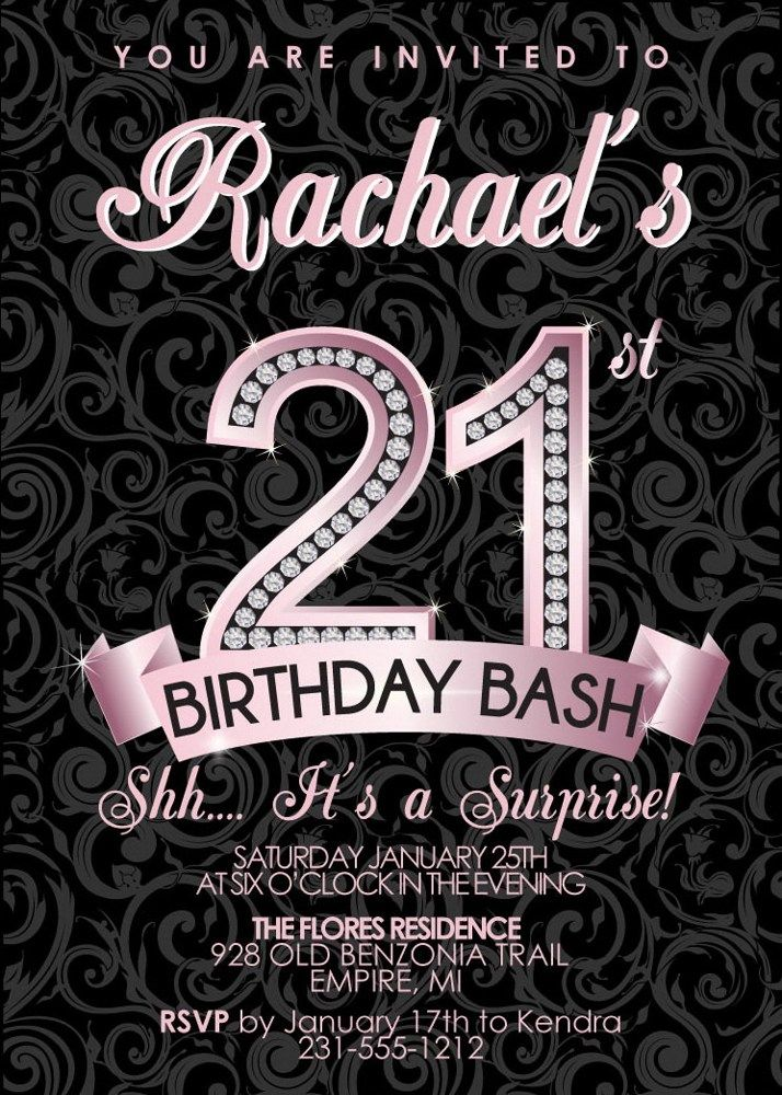 St Birthday Invitation Adult Birthday Party Invitation - 21st birthday invitations pinterest
