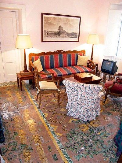 Ferienwohnung: Casa Vecchia in Albori - Der Fußboden aus dem 17. Jahrhundert. www.amalfi-ferien.de