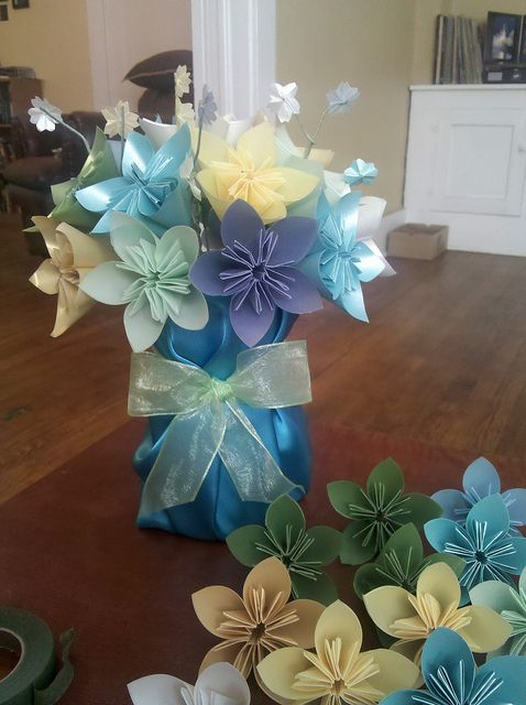 Origami Flowers Wedding Centerpiece Crafty Things Origami