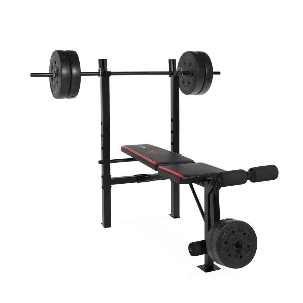 Weight Bench With Weights Set Dumbbells Standard Vinyl Workout Home Gym 140 Lbs Capstrength Weightbench Homegym Weight Benches Weight Bench Set Weight Set