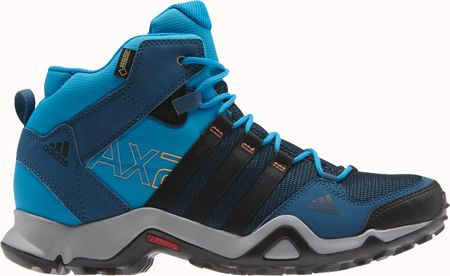 premium selection e07a8 68bac ADIDAS AX2 Mid GTX in Tribe BlueBlackSolar Blue