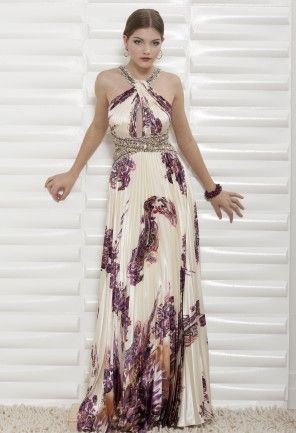Tantalizing Paisley Print Pleated Twist Neck Halter Dress With Keyhole Front Beaded Waist And Wedding GuestsWedding