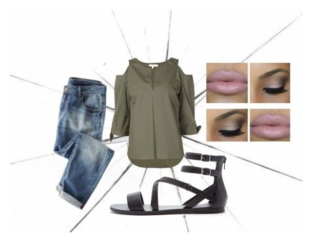 """""""Untitled #116"""" by purpleclover-1 ❤ liked on Polyvore featuring Wrap, Dorothee Schumacher, Forever 21 and Stila"""