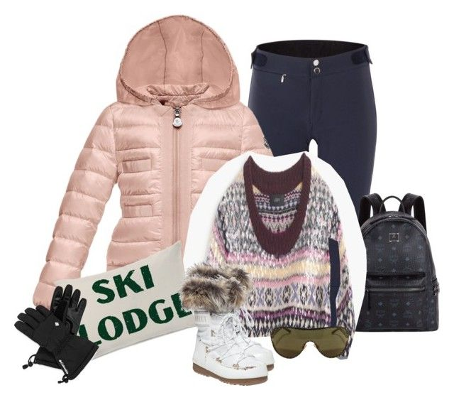 """Coat and Sweater"" by kimzarad1 ❤ liked on Polyvore featuring Peak Performance, Moncler, MCM, One Bella Casa, J.Crew, Columbia, Versace, women's clothing, women and female"