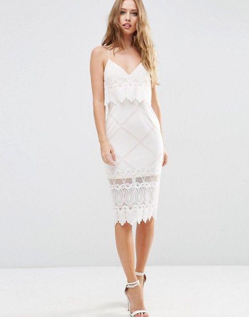 d64c84938b8fd38 Кружевное платье-футляр миди с укороченным топом | свадебные идеи
