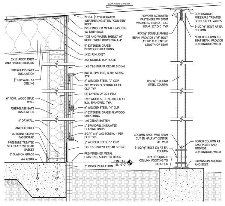 50 Detalles Constructivos De Arquitectura En Madera Weathering Steel Wood Detail Roof Beam
