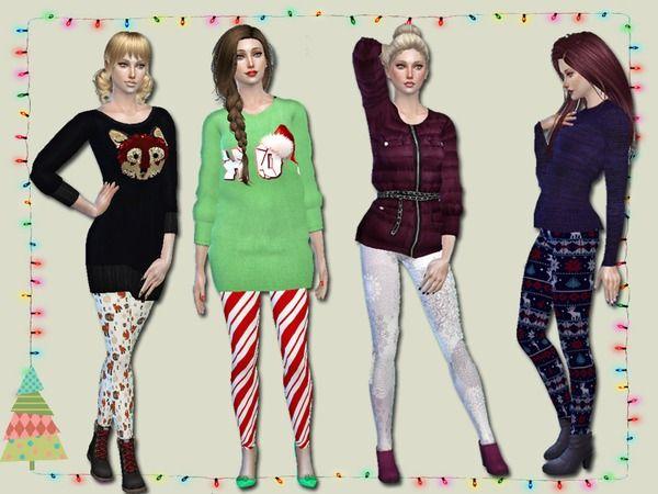 Winter Leggings by Simlark at TSR via Sims 4 Updates