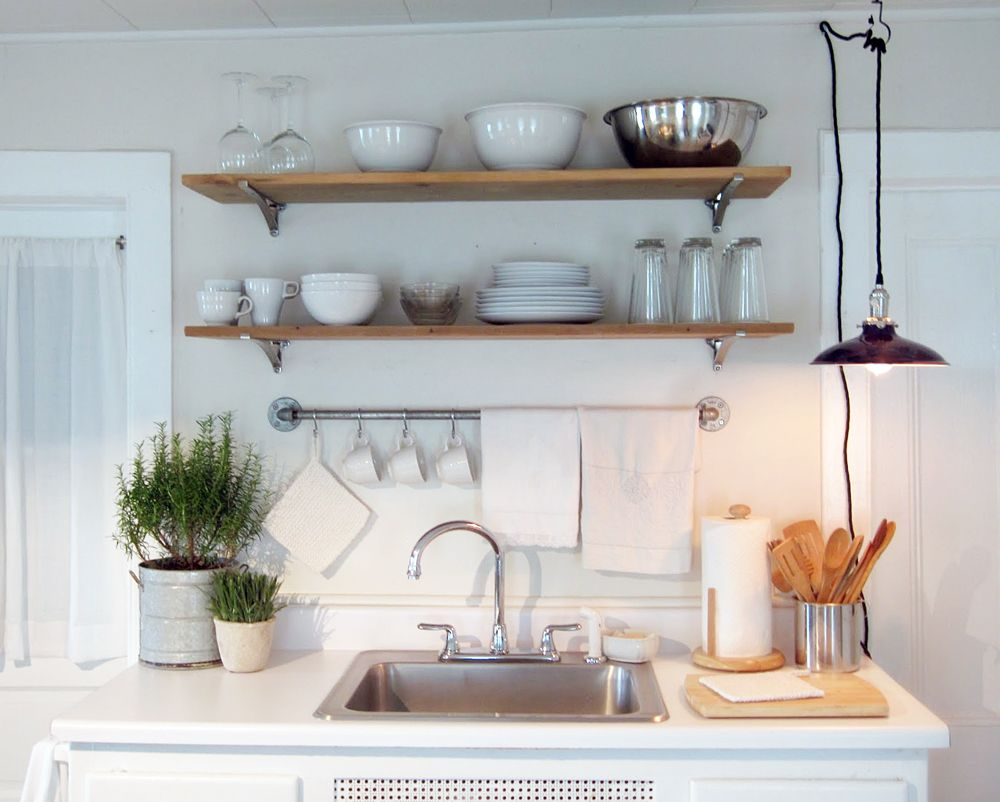 Radial Wave Shade Featured in Frugal Farmhouse Kitchen | Barn light ...