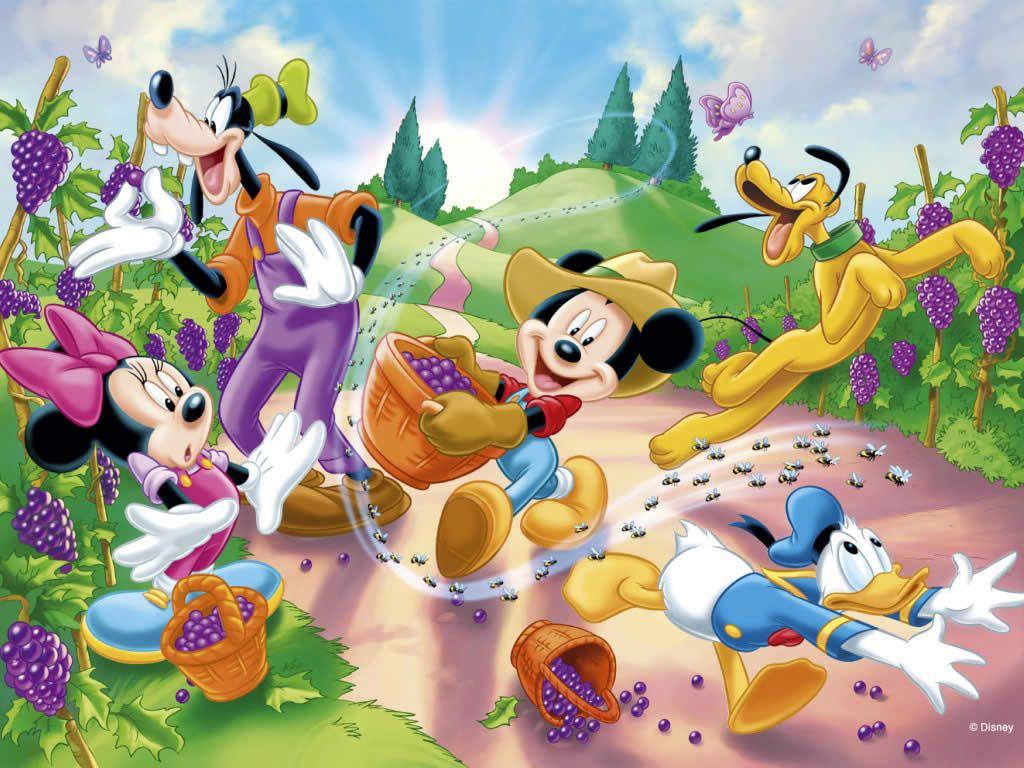 Papel De Parede De Desenho Animado Da Disney Pesquisa Google  ~ Papel De Parede Para Quarto Infantil Personagens