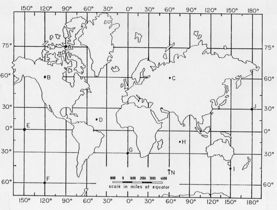 latitude and longitude | latitude and longitude practice map ...