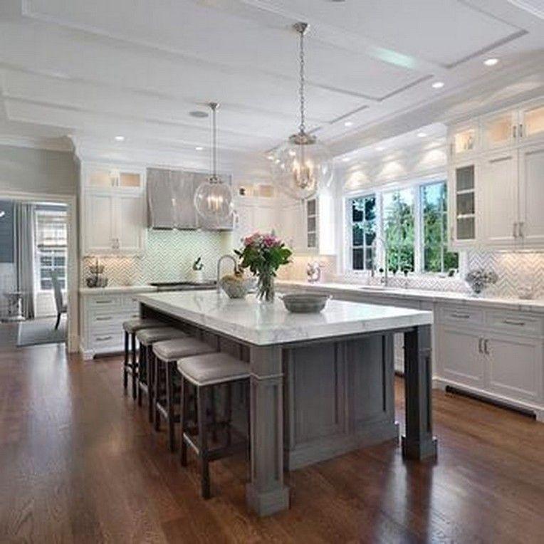 30+ Amazing White Kitchen Cabinets Ideas #greykitchendesigns
