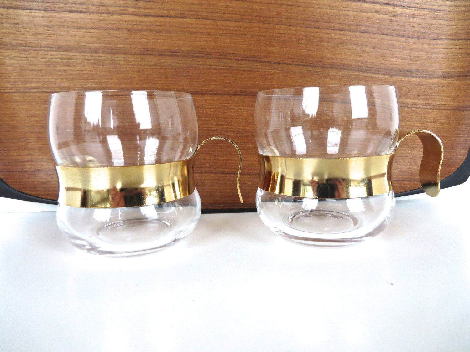 Set Of 2 Iittala Paula Glass And Metal Punch Glasses Etsy Tea Cup Design Modern Glass Glass