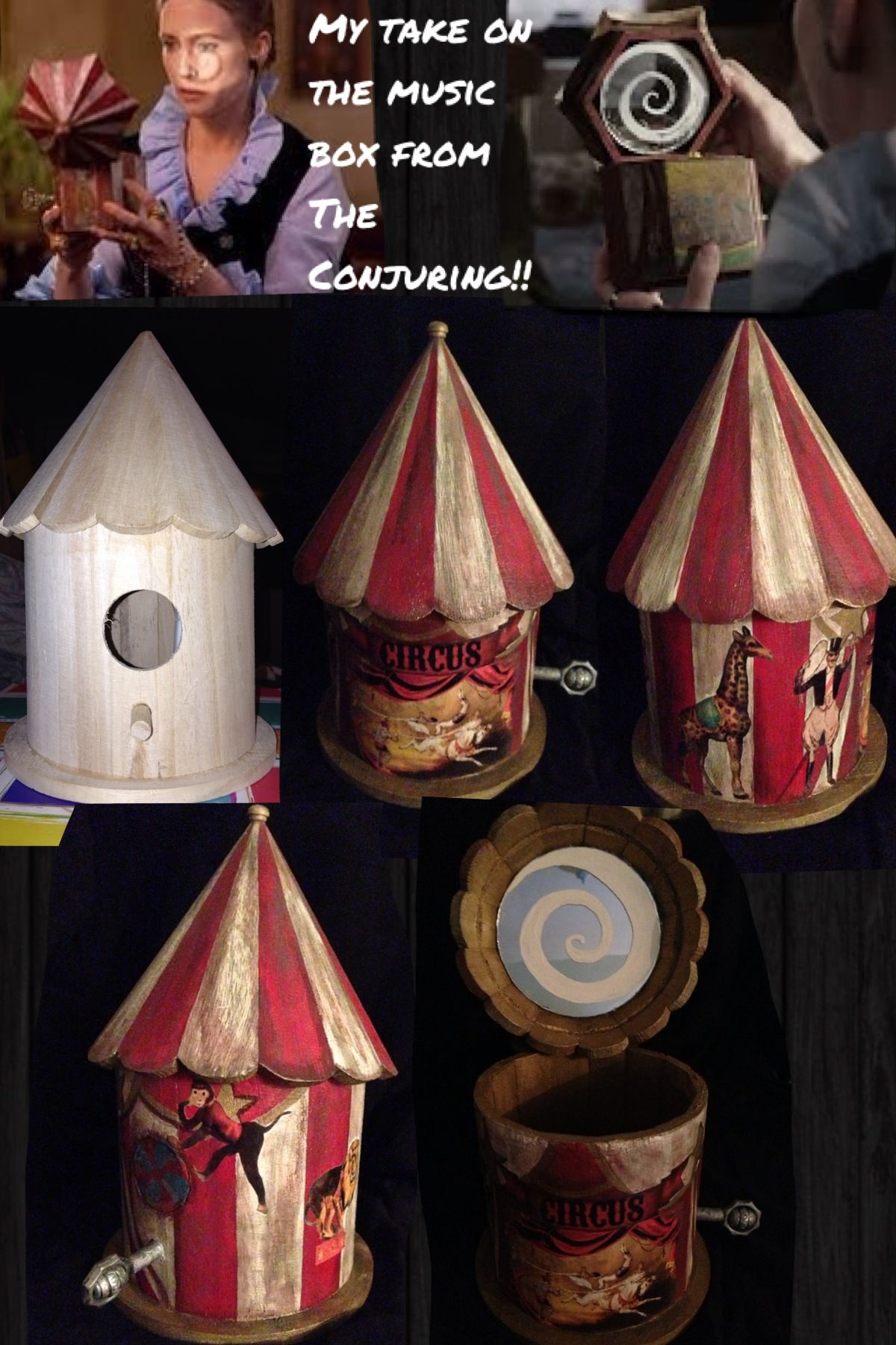 The Conjuring Music Box Right After Seeing The Movie The Conjuring A Couple Months I Wanted The Music Box In The Horror Crafts The Conjuring Birdhouse Craft