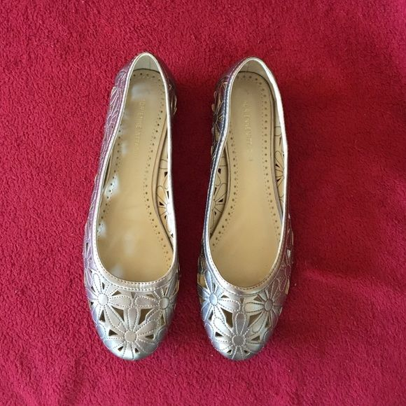 Adrienne vittadini flat. Size 7. Bronze Bronze color flat. So cute Adrienne Vittadini Shoes