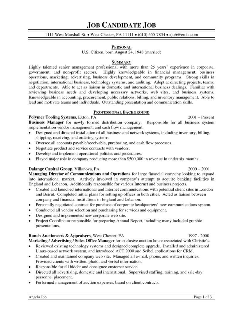 C Level Resume Examples Resume Examples Pinterest Resume