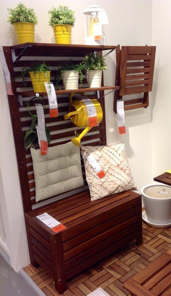 Ikea Applaro Bench Google Search Decoracion De Terrazas Pequenas Decoracion De Patio Decoracion Hogar