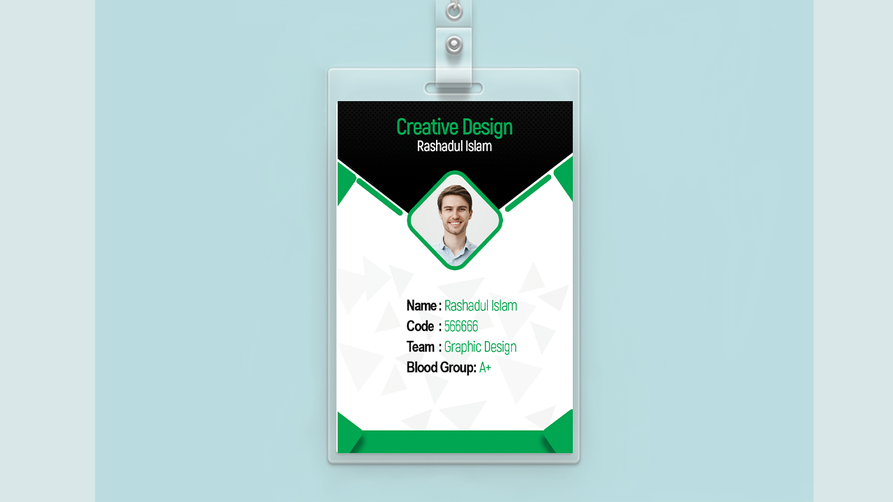 Id Card Design Card Design Company Id Photoshop