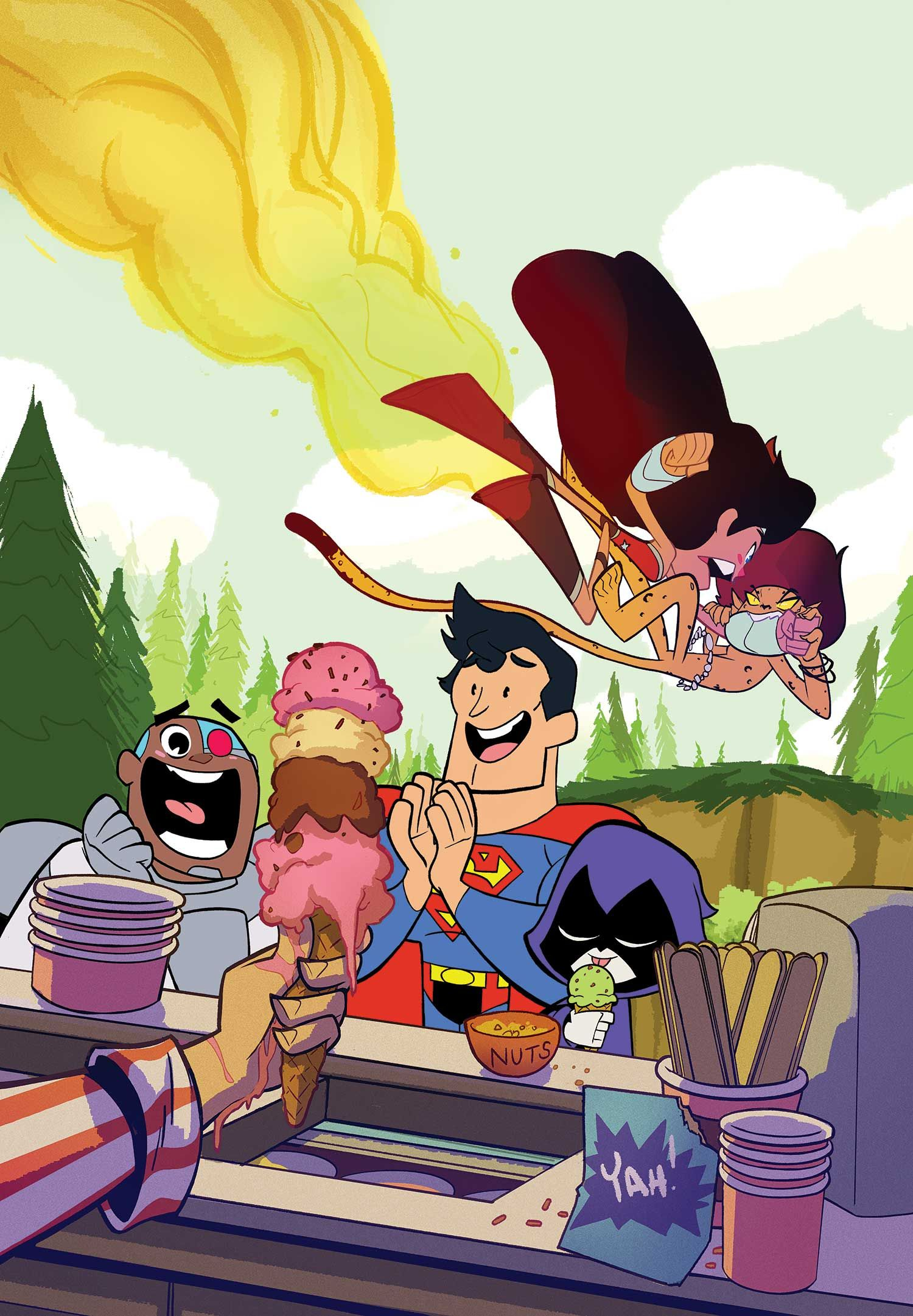 Supermanwonder Woman 19 Teen Titans Go Variant Cover -4604