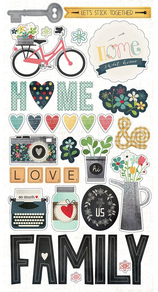 Universal image for scrapbook stickers printable