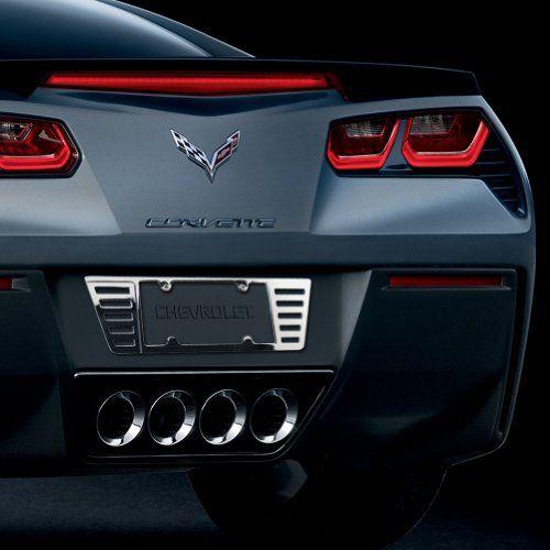 Chevrolet Corvette Stingray C7 Chrome Metal License Plate Frame