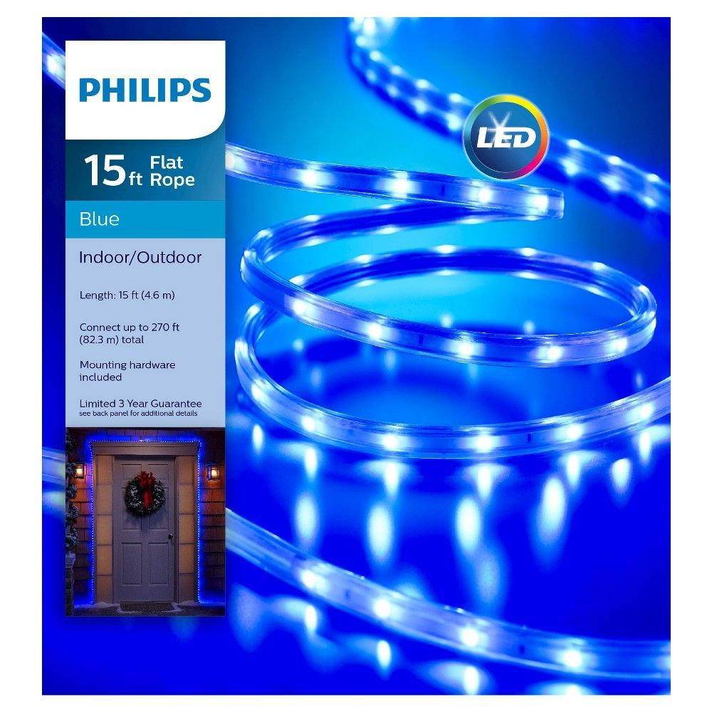 Philips 15ft led flat rope lights blue rope lighting and products philips 15ft led flat rope lights blue aloadofball Image collections