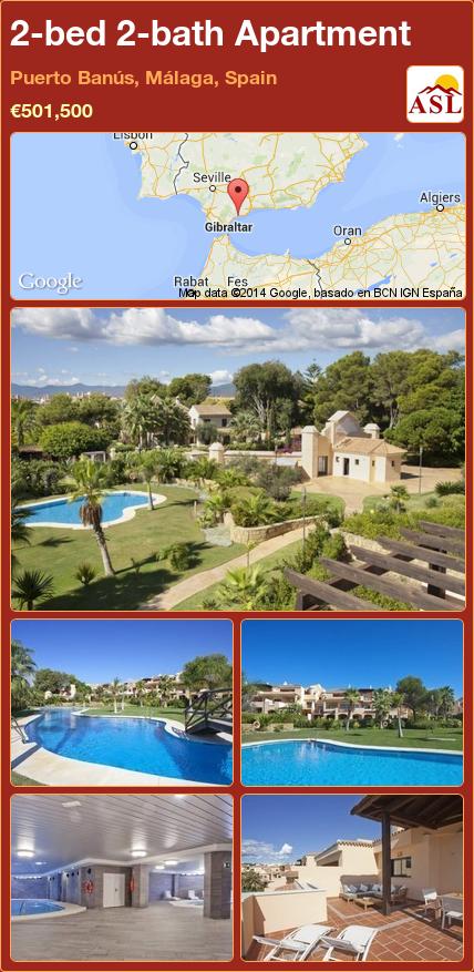 2-bed 2-bath Apartment in Puerto Banús, Málaga, Spain ►€501,500 #PropertyForSaleInSpain