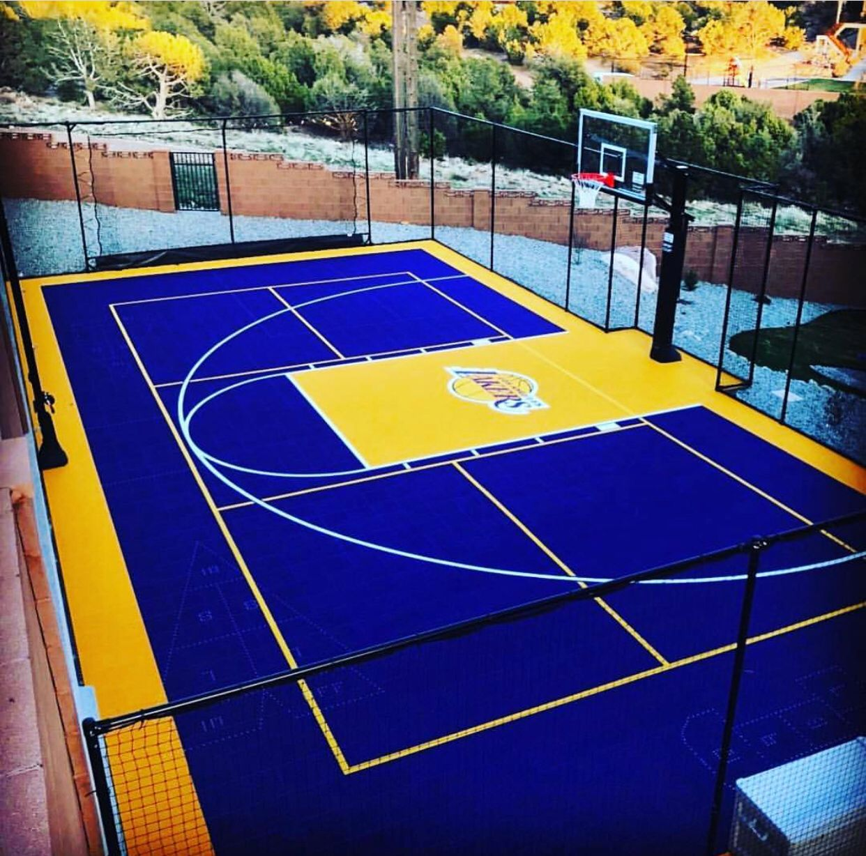 Backyard Sport Court Multi-Game, Outdoor Residential