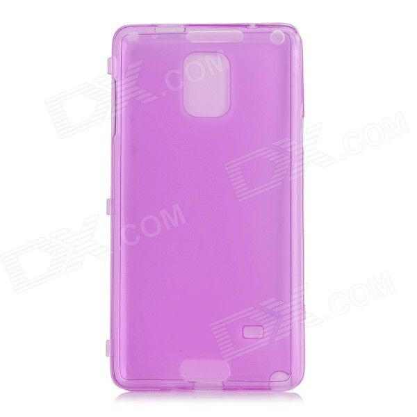 Protective Flip-Open TPU + Silicone Case for Samsung Galaxy Note 4 (N9100) - Transparent Purple