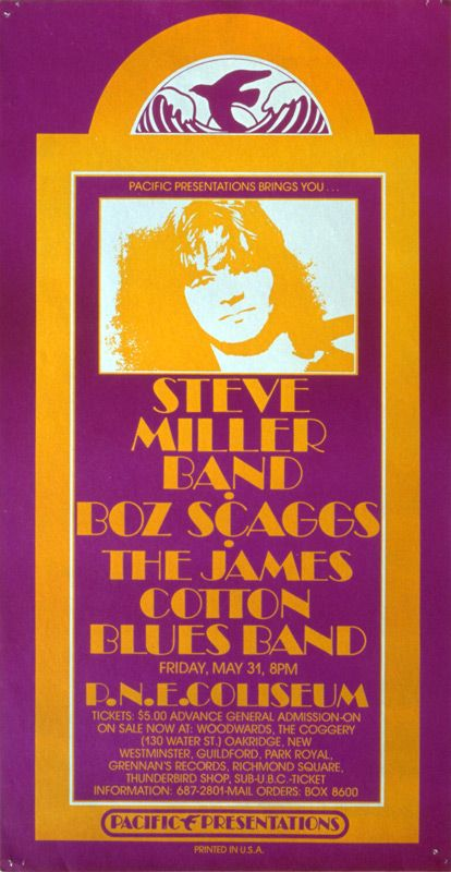 Steve Miller Band. Boz Scaggs, The James Cotton Blues Band