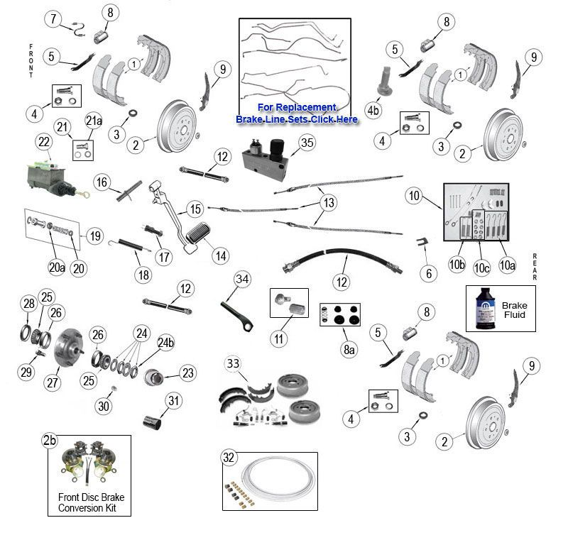 vintage cj and willys brake parts jeep willys parts diagrams Jeep CJ7 Brake Diagram vintage cj and willys brake parts