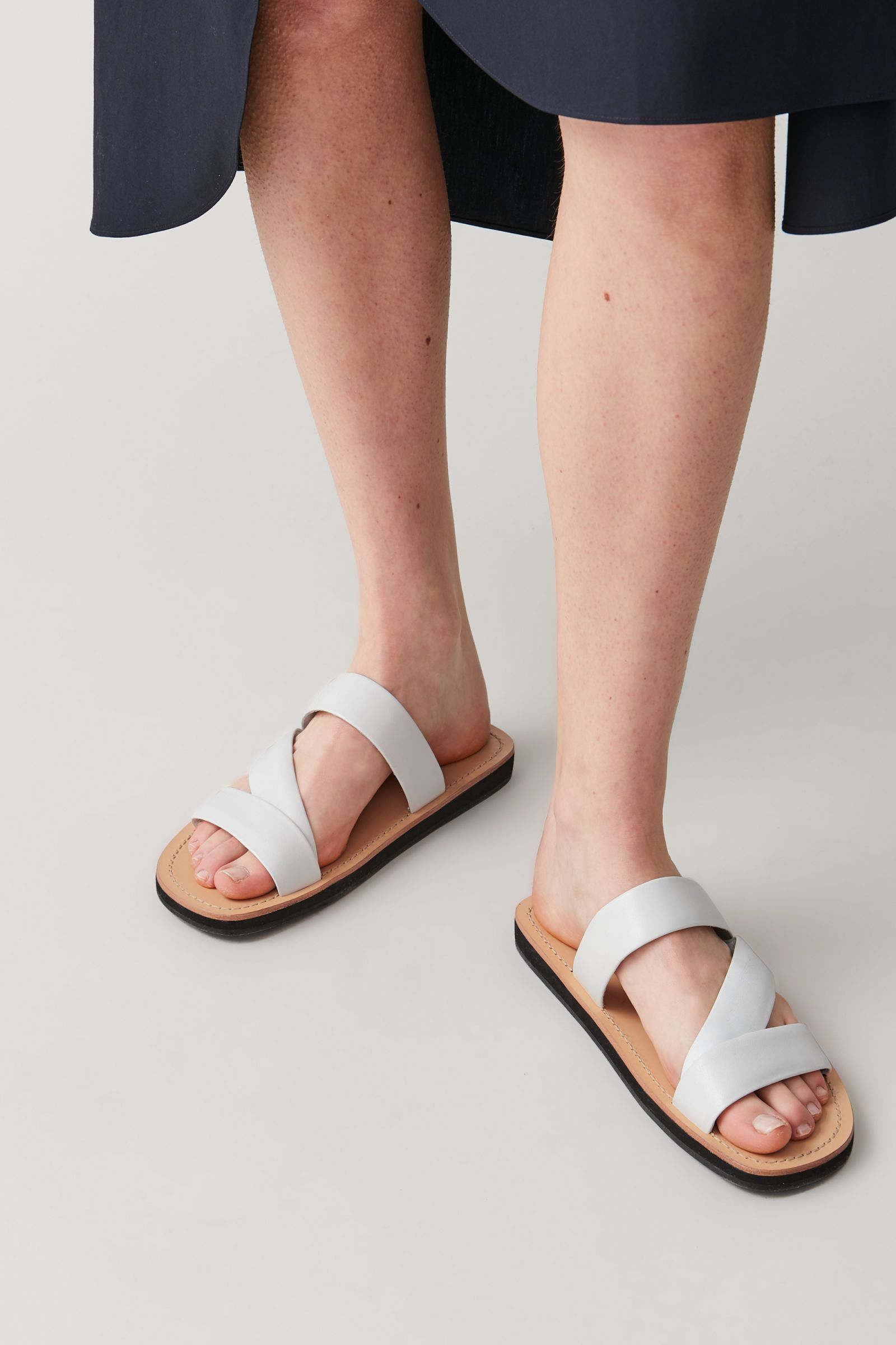 LEATHER STRAP SANDALS in 2020 | Leather