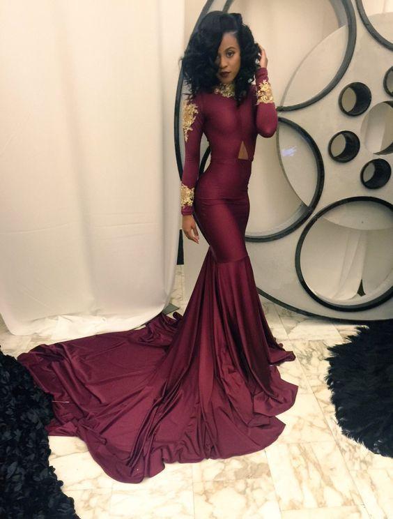 Prom Dressburgundy Long Prom Dressesfloor Length Prom Dress