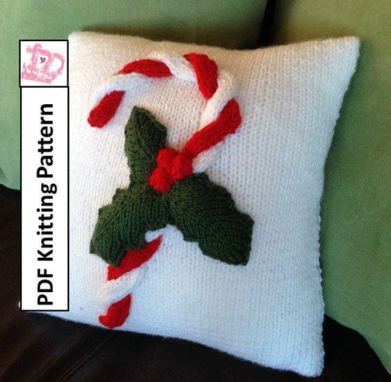 Pdf Knitting Pattern Christmas Knitting Pattern Christmas Pillow