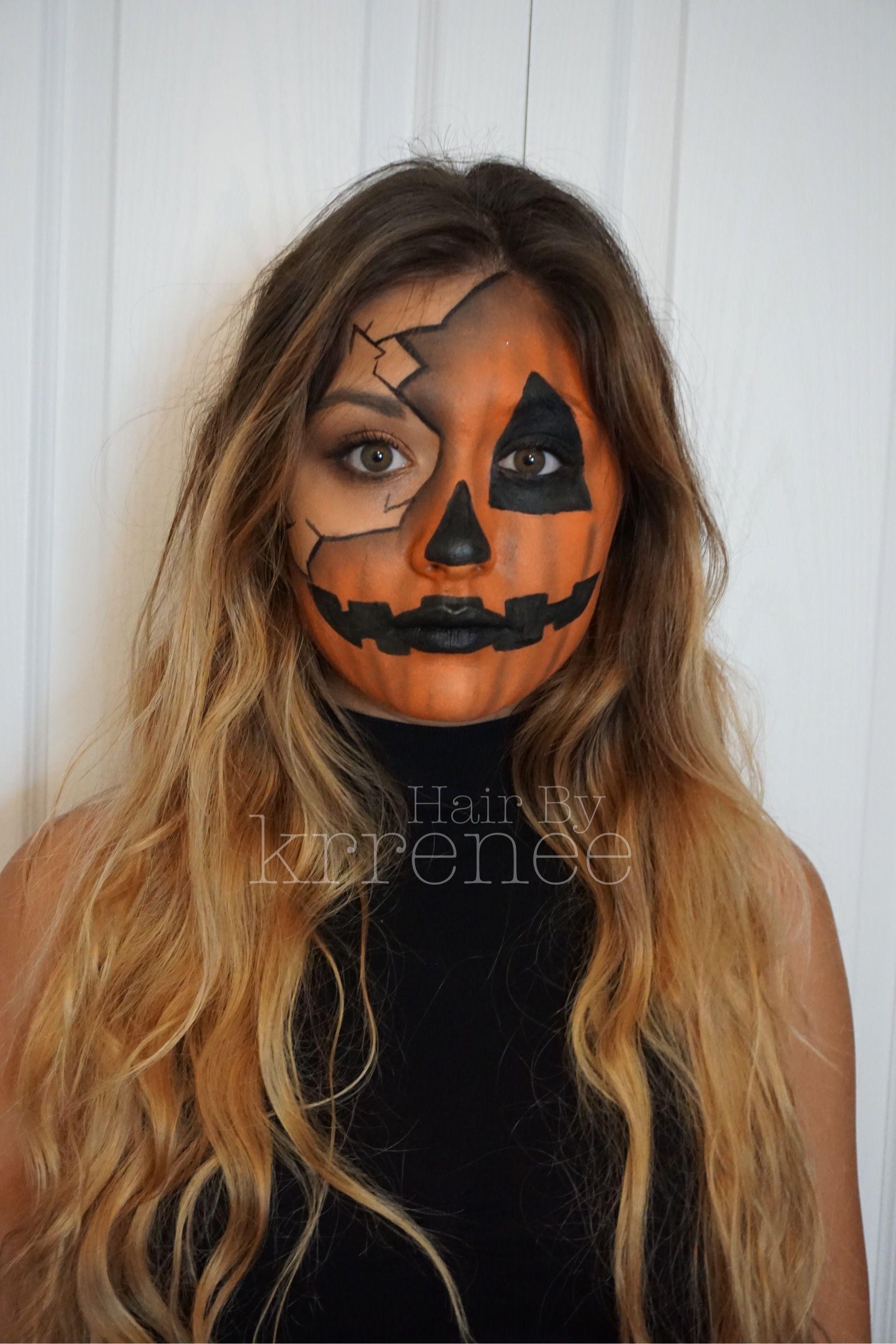 Pumpkin jack o lantern Halloween makeup by kristenmackoul