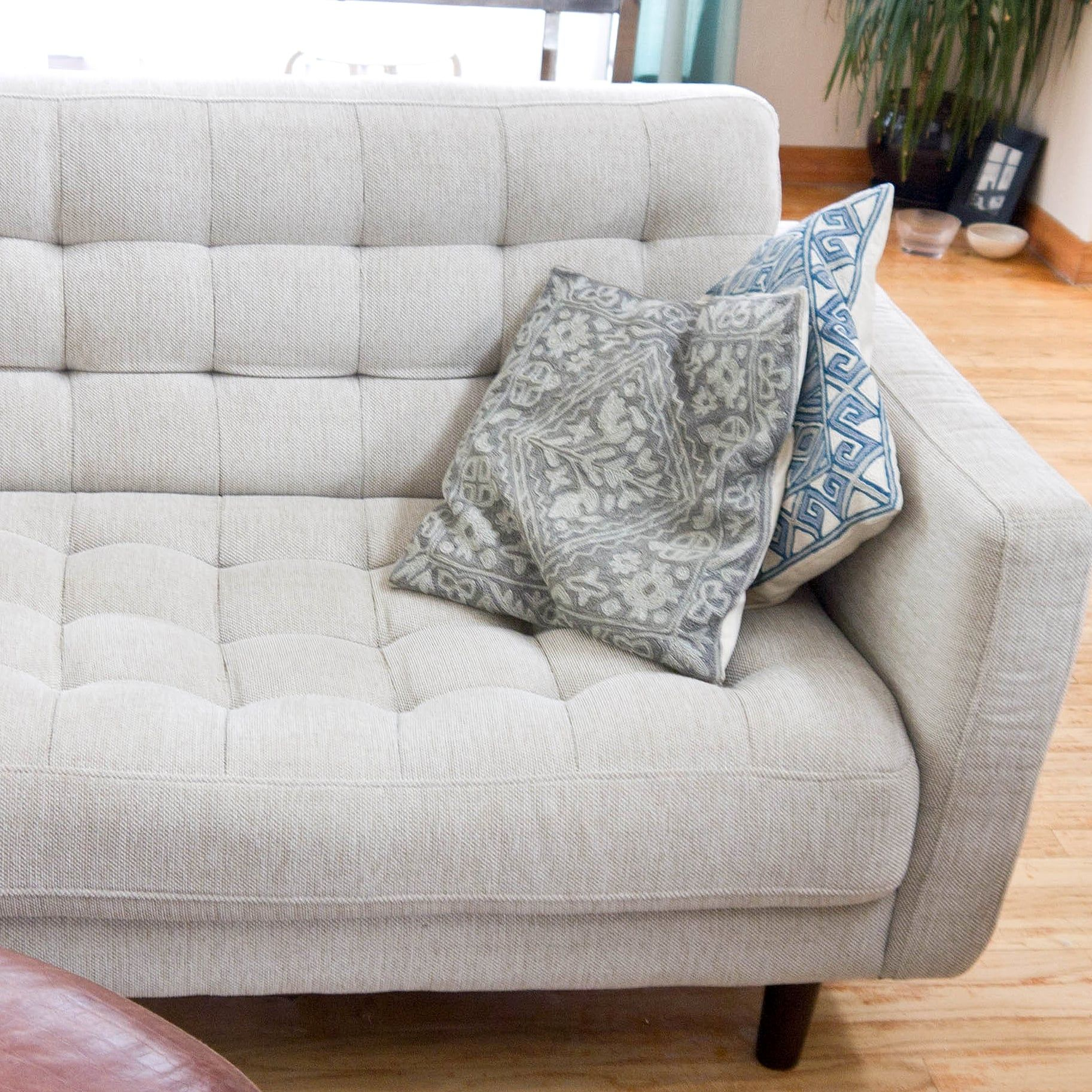 Refresh Your Fabric Couch With This Diy Cleaning Method Couch Fabric Clean Couch Fabric Sofa Bed