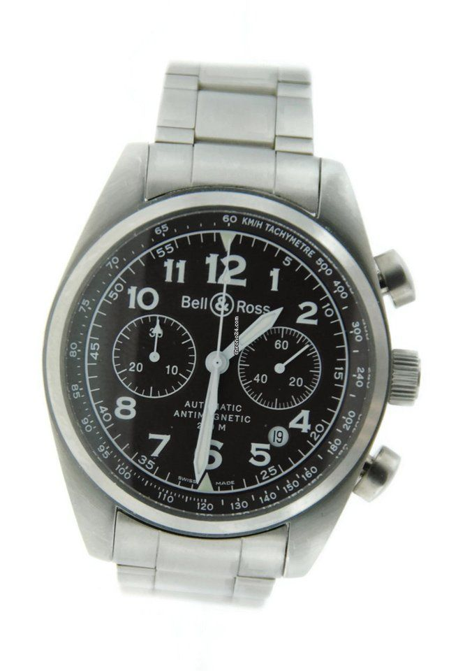 987689b14453 Bell   Ross Vintage Chronograph Automatic Stainless Steel Bell Ross