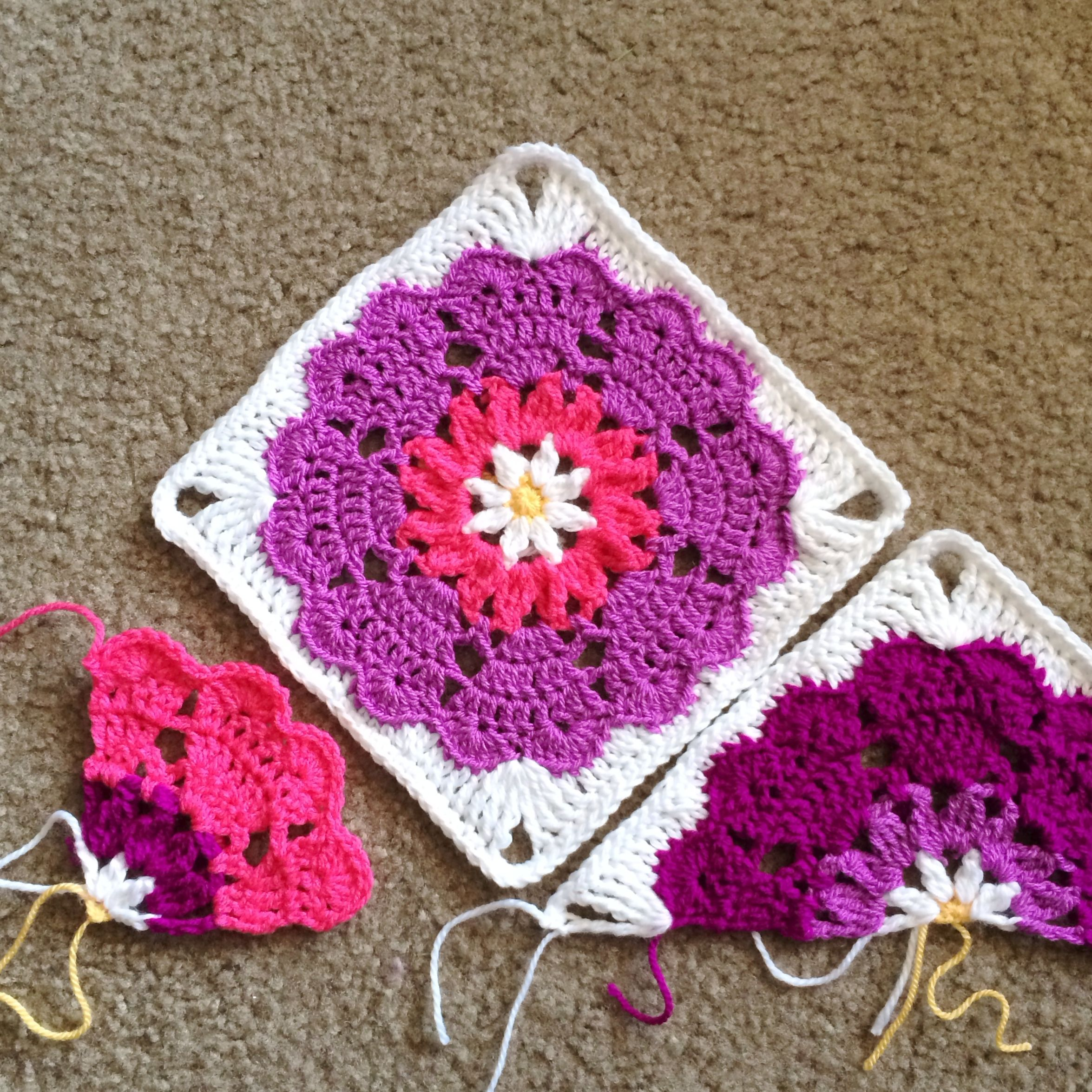 Free pattern links - original motif by Crochet_Millan