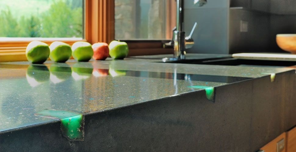 Concrete Countertop With Stone Inlay By Fu Tung Cheng Concrete