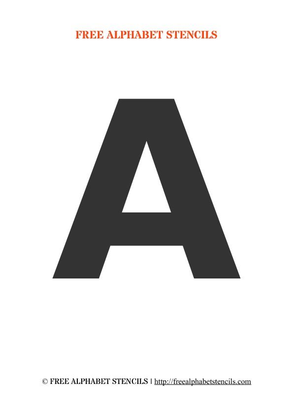 Bold Alphabet Stencils Alphabet Stencils Letter Stencils Printables Printable Initials
